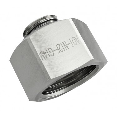 Threading Adapter, NPT 1/2 Female to G 1/4 Male