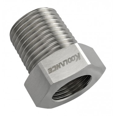Threading Adapter, NPT 1/2 Male to G 3/8 Female