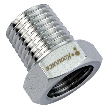 Threading Adapter, NPT 1/4 Male to G 1/4 Female, Stainless Steel