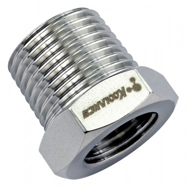 Threading Adapter, NPT 3/8 Male to G 1/4 Female, Stainless Steel