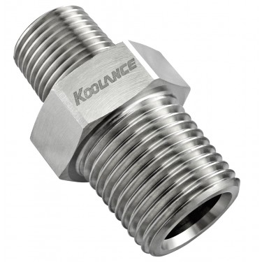Threading Adapter, NPT 3/8 Male to NPT 1/2 Male