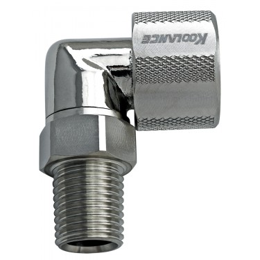 Rotary Elbow Compression Fitting for 10mm x 16mm (3/8in x 5/8in), 1/4 NPT