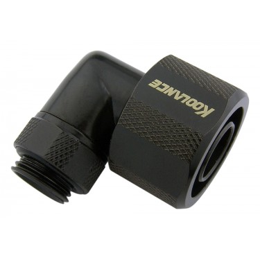 Rotary Elbow Compression Fitting for 13mm x 19mm (1/2in x 3/4in) *Black*, G 1/4 BSPP
