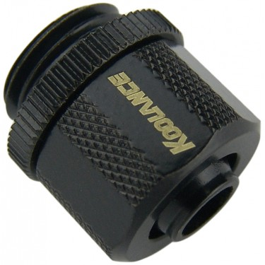 Compression Fitting for 06mm x 10mm (1/4in x 3/8in) *Black*, G 1/4 BSPP