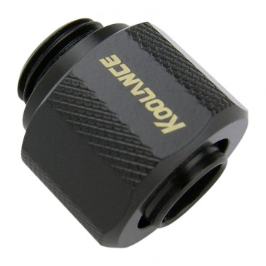 Compression Fitting for 10mm x 13mm (3/8in x 1/2in) *Black*, G 1/4 BSPP