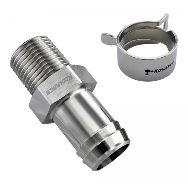 Barb Fitting for ID 19mm (3/4in), 1/2 NPT