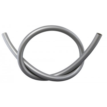 Tubing, PVC Silver, Dia: 10mm x 13mm (3/8in x 1/2in), Ea: 305mm (1ft)