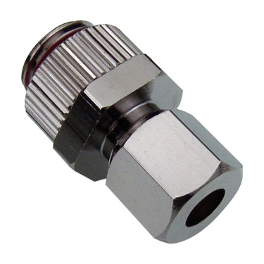 Compression Fitting for OD 06mm (1/4in) Soft Copper Tubing, G 1/4 BSPP
