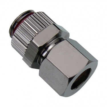 Compression Fitting for OD 10mm (3/8in) Soft Copper Tubing, G 1/4 BSPP