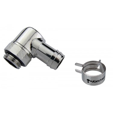 Rotary Elbow Barb Fitting for ID 10mm (3/8in), G 1/4 BSPP