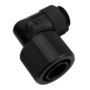 Rotary Elbow Compression Fitting for 13mm x 16mm (1/2in x 5/8in) *Black*, G 1/4 BSPP