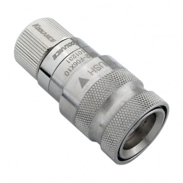 QD2 Female Quick Disconnect No-Spill Coupling, Compression for 06mm x 10mm (1/4in x 3/8in)