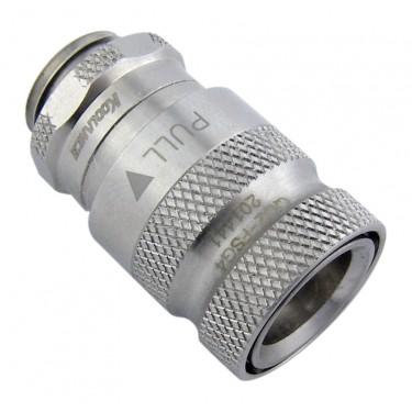 QD2 Female Quick Disconnect No-Spill Coupling, Male Threaded G 1/4 BSPP