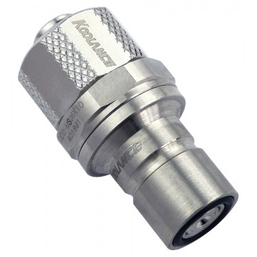 QD2 Male Quick Disconnect No-Spill Coupling, Compression for 06mm x 10mm (1/4in x 3/8in)