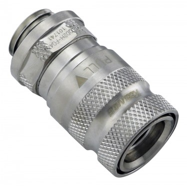 QD2H Female Quick Disconnect No-Spill Coupling, Male Threaded G 1/4 BSPP