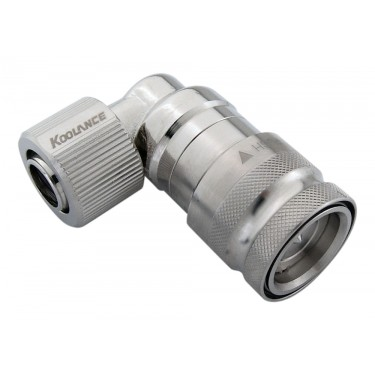 QD3 Female Quick Disconnect No-Spill Coupling, Angle Compression for 10mm x 13mm (3/8in x 1/2in)