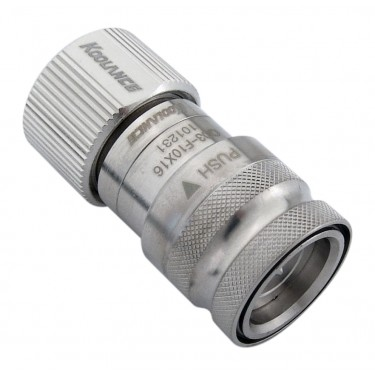 QD3 Female Quick Disconnect No-Spill Coupling, Compression for 10mm x 16mm (3/8in x 5/8in)