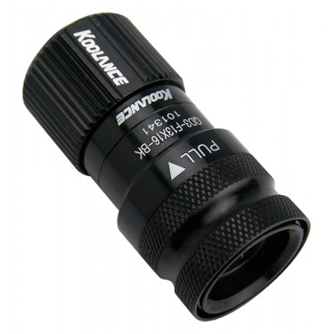 QD3 Female Quick Disconnect No-Spill Coupling, Compression for 13mm x 16mm (1/2in x 5/8in) *Black*