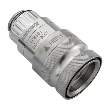 QD3 Female Quick Disconnect No-Spill Coupling, Male Threaded G 1/4 BSPP