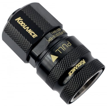 QD3 Female Quick Disconnect No-Spill Coupling, Compression for 10mm x 16mm (3/8in x 5/8in) *Black*