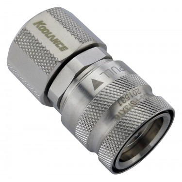 QD3 Female Quick Disconnect No-Spill Coupling, Compression for 13mm x 16mm (1/2in x 5/8in)