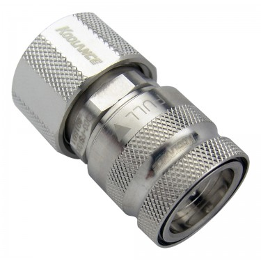 QD3 Female Quick Disconnect No-Spill Coupling, Compression for 13mm x 19mm (1/2in x 3/4in)