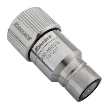 QD3 Male Quick Disconnect No-Spill Coupling, Compression for 10mm x 16mm (3/8in x 5/8in)