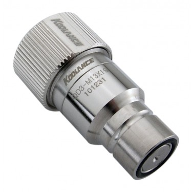 QD3 Male Quick Disconnect No-Spill Coupling, Compression for 13mm x 19mm (1/2in x 3/4in)