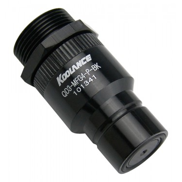 QD3 Male Quick Disconnect No-Spill Coupling, Panel Female Threaded G 1/4 BSPP *Black*