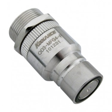 QD3 Male Quick Disconnect No-Spill Coupling, Panel Female Threaded G 1/4 BSPP