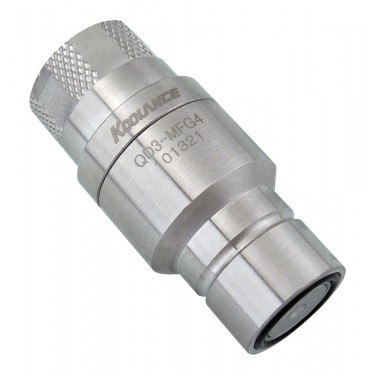 QD3 Male Quick Disconnect No-Spill Coupling, Female Threaded G 1/4 BSPP