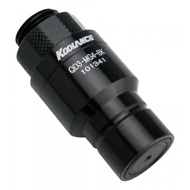 QD3 Male Quick Disconnect No-Spill Coupling, Male Threaded G 1/4 BSPP *Black*