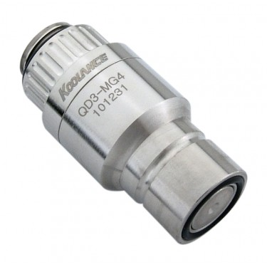 QD3 Male Quick Disconnect No-Spill Coupling, Male Threaded G 1/4 BSPP
