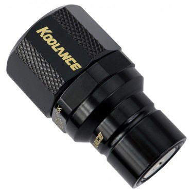 QD3 Male Quick Disconnect No-Spill Coupling, Compression for 10mm x 13mm (3/8in x 1/2in) *Black*