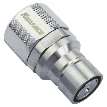 QD3 Male Quick Disconnect No-Spill Coupling, Compression for 10mm x 13mm (3/8in x 1/2in)