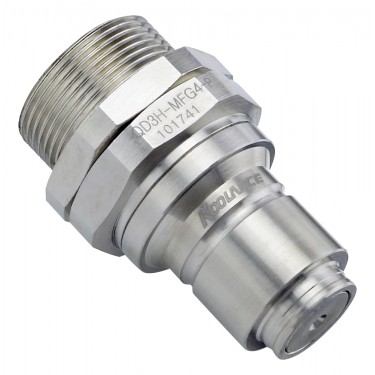 QD3H Male Quick Disconnect No-Spill Coupling, Panel Female Threaded G 1/4 BSPP