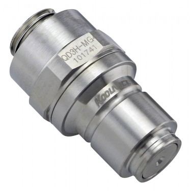 QD3H Male Quick Disconnect No-Spill Coupling, Male Threaded G 1/4 BSPP
