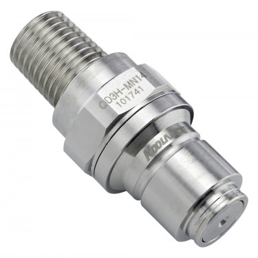 QD3H Male Quick Disconnect No-Spill Coupling, Male Threaded, 1/4 NPT
