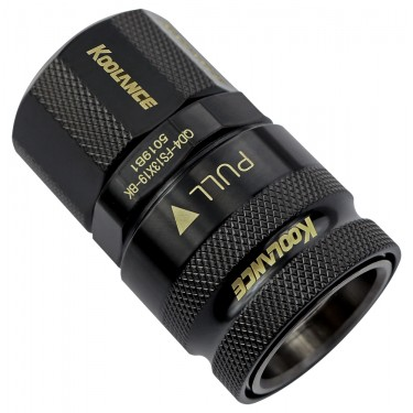 QD4 Female Quick Disconnect No-Spill Coupling, Compression for 13mm x 19mm (1/2in x 3/4in) *Black*
