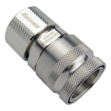 QD4 Female Quick Disconnect No-Spill Coupling, Compression for 13mm x 19mm (1/2in x 3/4in)