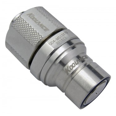 QD4 Male Quick Disconnect No-Spill Coupling, Compression for 13mm x 19mm (1/2in x 3/4in)