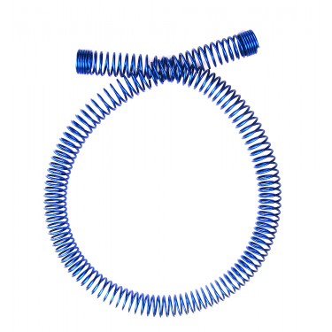 Tubing Spring Wrap, Steel Blue for OD 10mm (3/8in)