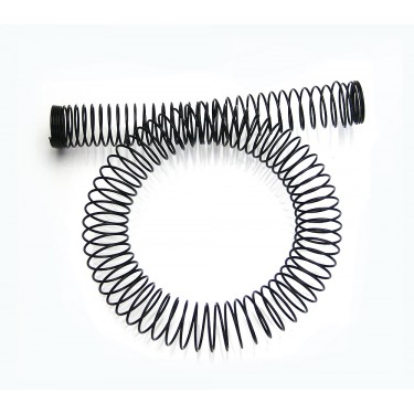 Tubing Spring Wrap, Steel Black for OD 19mm (3/4in)