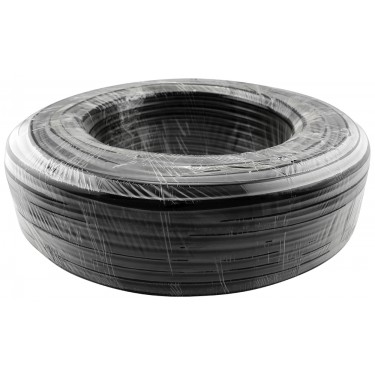 Tubing Roll, PVC Black, Dia: 13mm x 16mm (1/2in x 5/8in), Ea: 100m (328ft)