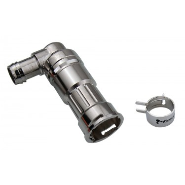 VL3N Female Quick Disconnect No-Spill Coupling, Angle Barb for ID 10mm (3/8in)